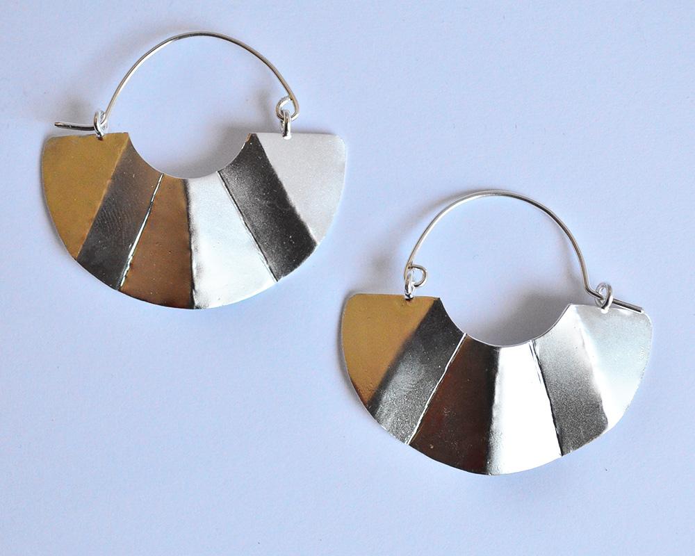 Orecchino ventaglio in argento 925