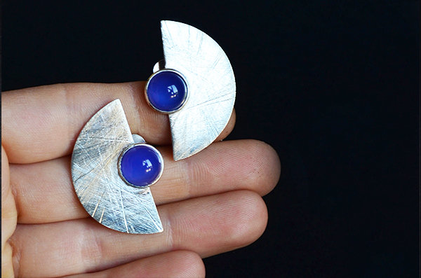 Orecchini Stone Cabochon Agata