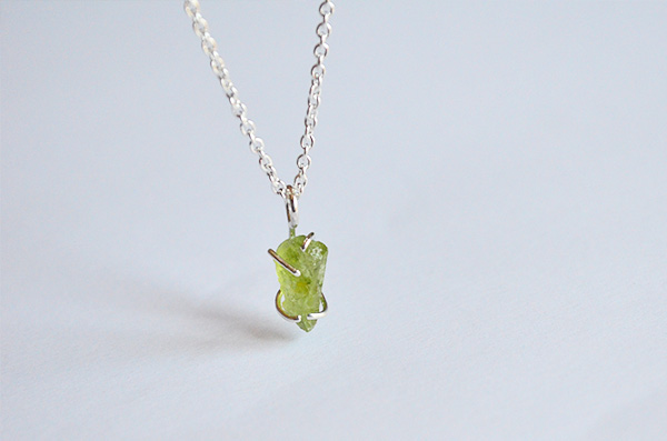 Collana naked con peridot in argento 925