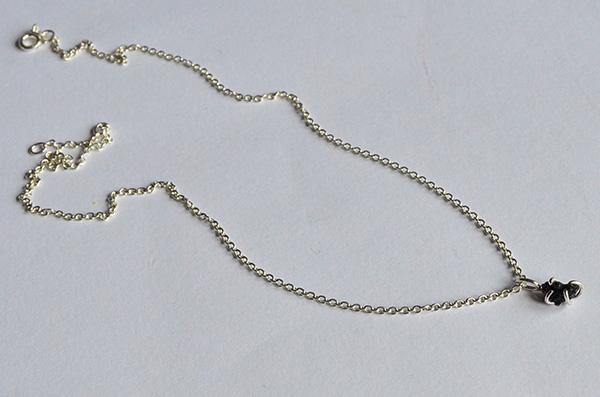 onyx raw: collana in argento 925 e onica nera grezza