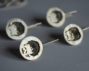 Beatles orecchini in argento 925
