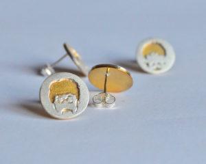Beatles orecchini in argento 925 e ottone