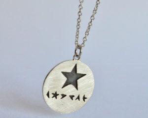 Blackstar ciondolo in argento 925