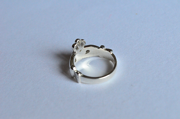 Claddagh : anello da donna in argento 925