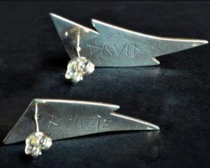 Ziggy orecchini in argento 925 e smalto a freddo (retro)